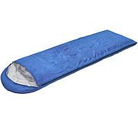 Спальный мешок (спальник) одеяло SportVida SV-CC0051 +2 ...+ 16°C R Blue/Grey, фото 1