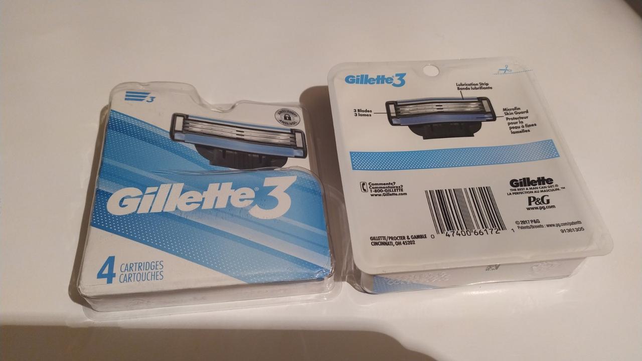 Картриджи для бритья Gillette Mach 3 (4шт.) США