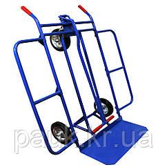 Металевий візок-трансформер 1000х1000 мм, складський візок, кравчучка