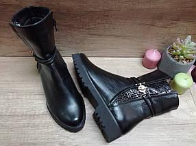 Демисезонные  ботинки из натуральной кожи на низком ходу., фото 2