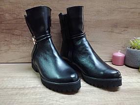 Демисезонные  ботинки из натуральной кожи на низком ходу., фото 3