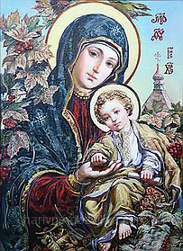 """Набор алмазной вышивки (мозаики) икона """"Богородица Спаси и Помилуй"""""""