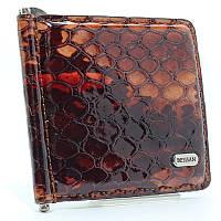 Зажим для купюр кожаный коричневый Desisan 208-4 Турция