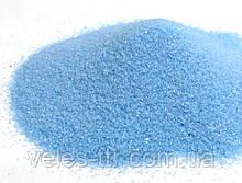 Цветной песок ГОЛУБОЙ декоративный (мелкий) 50 гм