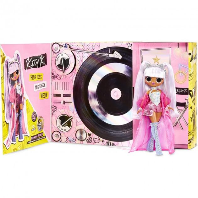 Игровой набор с куклой LOL Surprise OMG Remix Kitty K ЛОЛ Сюрпрайз Ремикс Королева Китти (567240) оригинал
