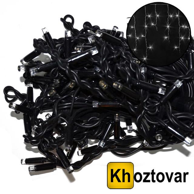 Новогодняя гирлянда-бахрома CRT-002   Черный провод   120 ламп   5м