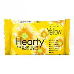 Полимерная Глина Самозатвердевающая Hearty, Цвет: Желтый, Брикет 50г, 1 шт