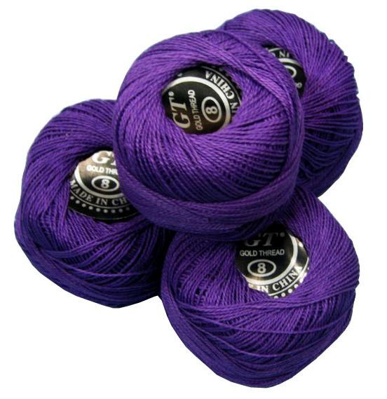 Нитки ирис ярко-фиолетовый № 112