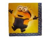 Салфетки Миньоны жёлтые 10 штук