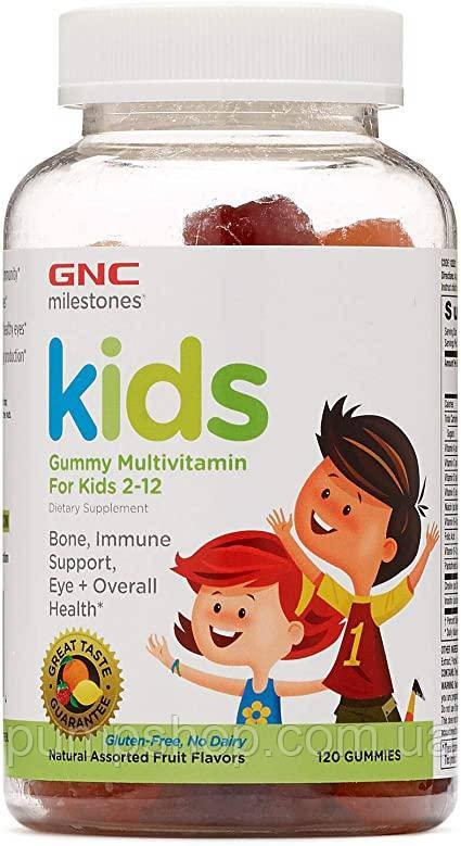 Витамины для детей 2-12 лет GNC Gummy Multivitamin for Kids 2-12 -120 жевательных конфет