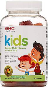 Вітаміни для дітей 2-12 років GNC Gummy Multivitamin for Kids 2-12 -120 жувальних цукерок