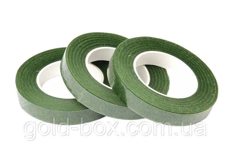 Тейп-лента темно-зеленая 1,2см 23метра