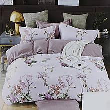 Комплект постільної білизни сатин фіолетовий Квіти Koloco