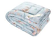 """Теплое одеяло с овечьей шерстью """"SAXON"""" полуторное 145х210 сатин_шерсть (214871-7), фото 1"""