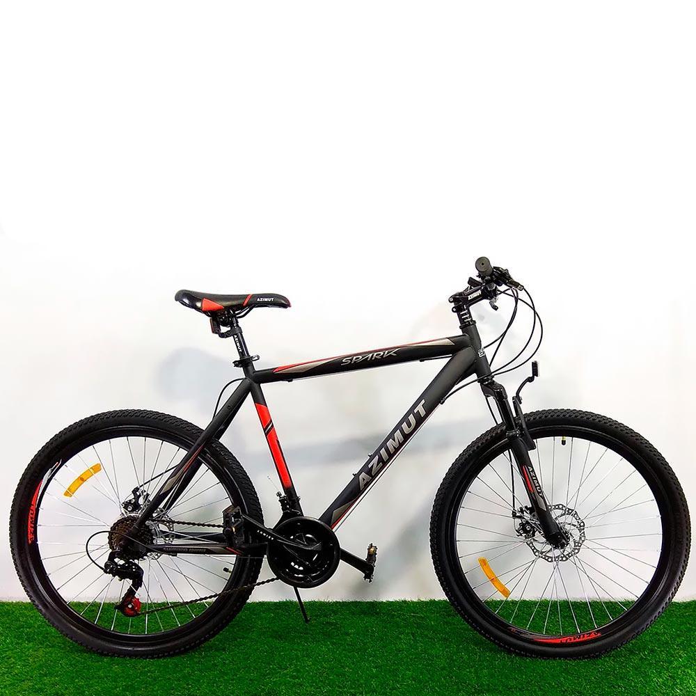 """Горный велосипед 26"""" Azimut Spark D черно-красный"""