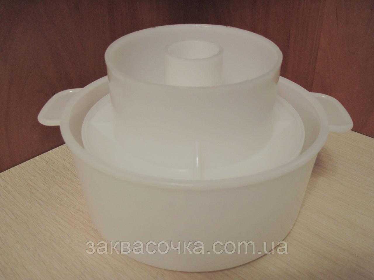 Форма для сыров(на0,5-1кг) с поршнем