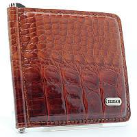 Зажим для купюр кожаный коричневый Desisan 208-14 Турция