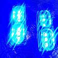 Комплект светодиодных LED стробоскопов 2х6 (крепление под решетку/бампер) - СИНИЙ, фото 6