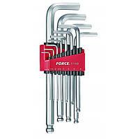 Набор ключей 6-гр. (HEX) Г-обр. с шаром длинных 11пр. (1.5-12 мм) 5116LB F