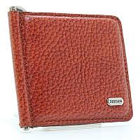 Зажим для купюр кожаный коричневый Desisan 208-015 Турция
