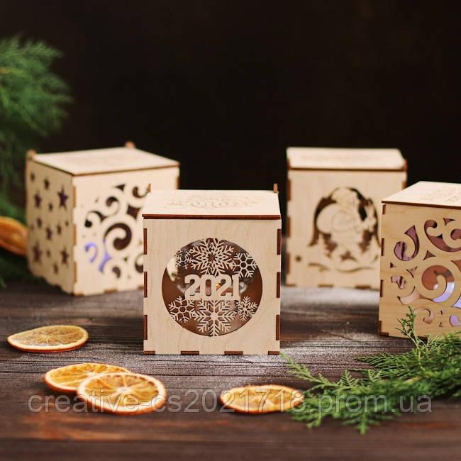 Коробка для деревянных новогодних игрушек (БЕЗ игрушек) на выбор