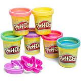 Набор пластилина плей до с блестками Play-Doh Hasbro Набір Плей-До з блискітками та глітером, фото 2