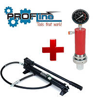 Насос 20 тонн гидравлический Profline 97106 + цилиндр 20 тонн Profline 97320