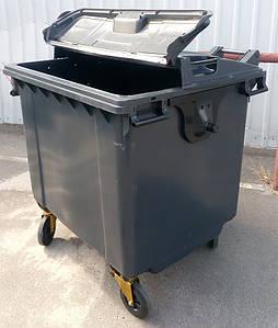 ESE SplitLID зручний сміттєвий пластиковий контейнер 1,1 м3 з подвійною кришкою