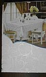 Скатерть атласная с розой  152 -220, фото 2