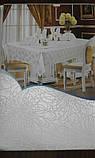 Скатертина атласна з трояндою 152 -220, фото 3