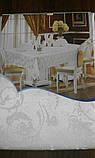 Скатертина атласна з трояндою 152 -220, фото 5