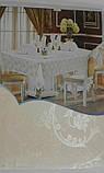Скатертина атласна з трояндою 152 -220, фото 6