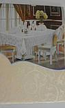 Скатертина атласна з трояндою 152 -220, фото 8