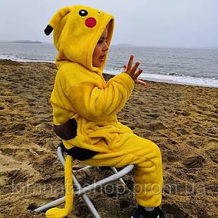 Детская пижама кигуруми Пикачу на рост 100,110,120, 130,140 см - кігрумі Пікачу