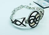 Срібний родированный браслет з цирконами Флорія, фото 3