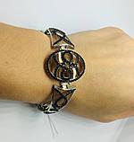 Срібний родированный браслет з цирконами Флорія, фото 6