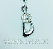 Необычный кулон в серебре с цирконом Ася