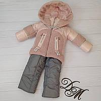 Детский зимний комбинезон  лак + барашек, фото 1