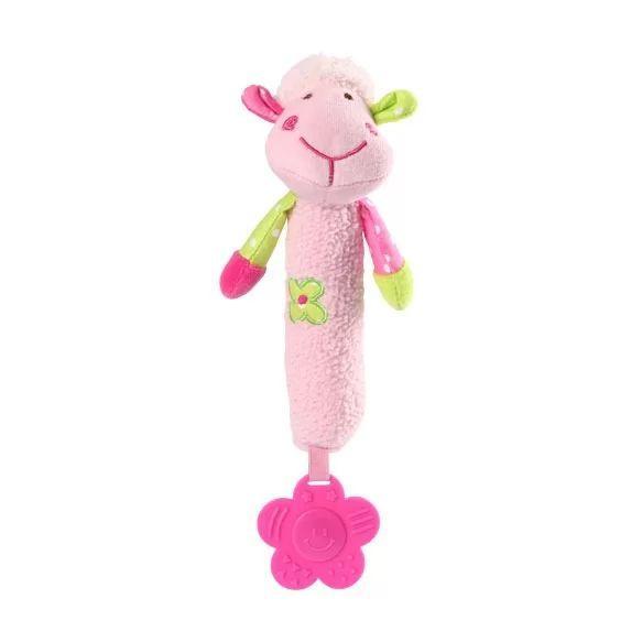 Игрушка-прорезыватель BabyOno Веселая овечка, 28 см, розовый (606)