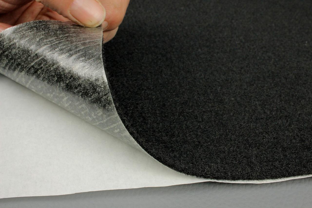 Карпет автомобильный Черный самоклейка (лист 142х100 см), толщина 2.2 мм, плотность 300 г/м2