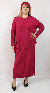Турецкий женский теплый костюм больших размеров 54-64