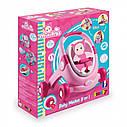 Ходунки коляска для кукол Миникис Smoby Minikiss 3 в 1 розовая 210205, фото 2