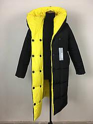 Женское пальто одеяло зимнее двухстроннее размеры 44-52