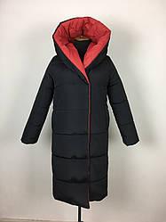 Стильное женское пальто зимнее двухстроннее размеры 44-52