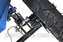 Прицеп (тележка) к мотоблоку Мотор Сич, МТЗ, WEIMA, Кентавр, Форте самосвальная с дисковыми тормозами 160х105, фото 3