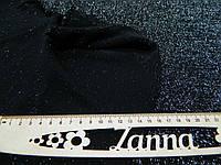 Ткань шерсть металлик с люрексовой нитью черного цвета, фото 1
