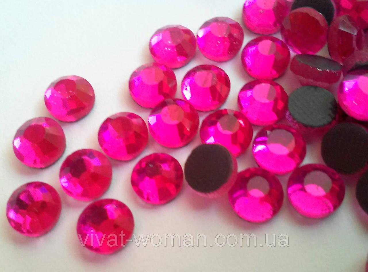 Стразы DMC, Super Pink SS16 (ярко розовый) термоклеевые. Цена за 144 шт.