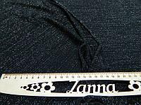 Трикотажная ткань металлик черного цвета с люрексовой нитью, фото 1