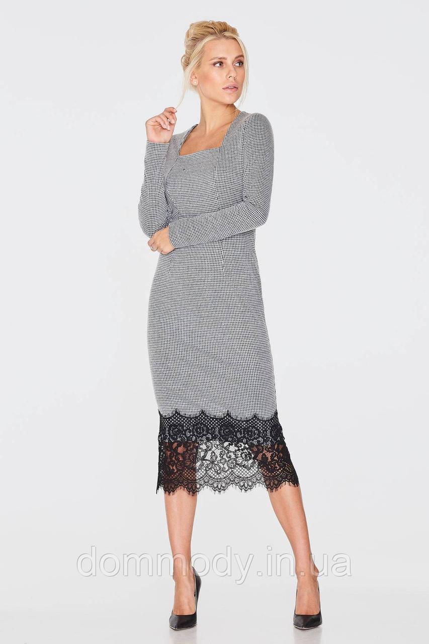 Платье женское с кружевом Model