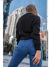 Женская вязаная кофта Staff black, фото 3